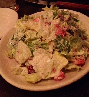 Lexingtonian Salad from Malones. Now I just need to figure out the butter...