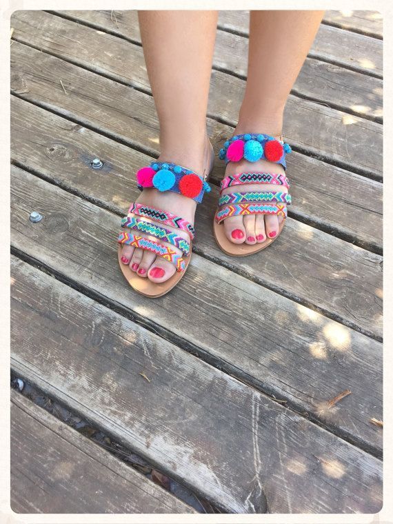 FREE SHIPPING Genuine Leather Sandals by BohemianFootprints