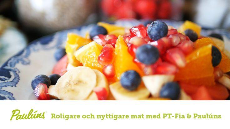 Sofia Pt-Fia Sjöström och Fredrik Paulún presenterar varsin favoritfrukost. Tillsammans diskuterar de kring vikten av frukost och hur man blir mätt på bästa sätt.