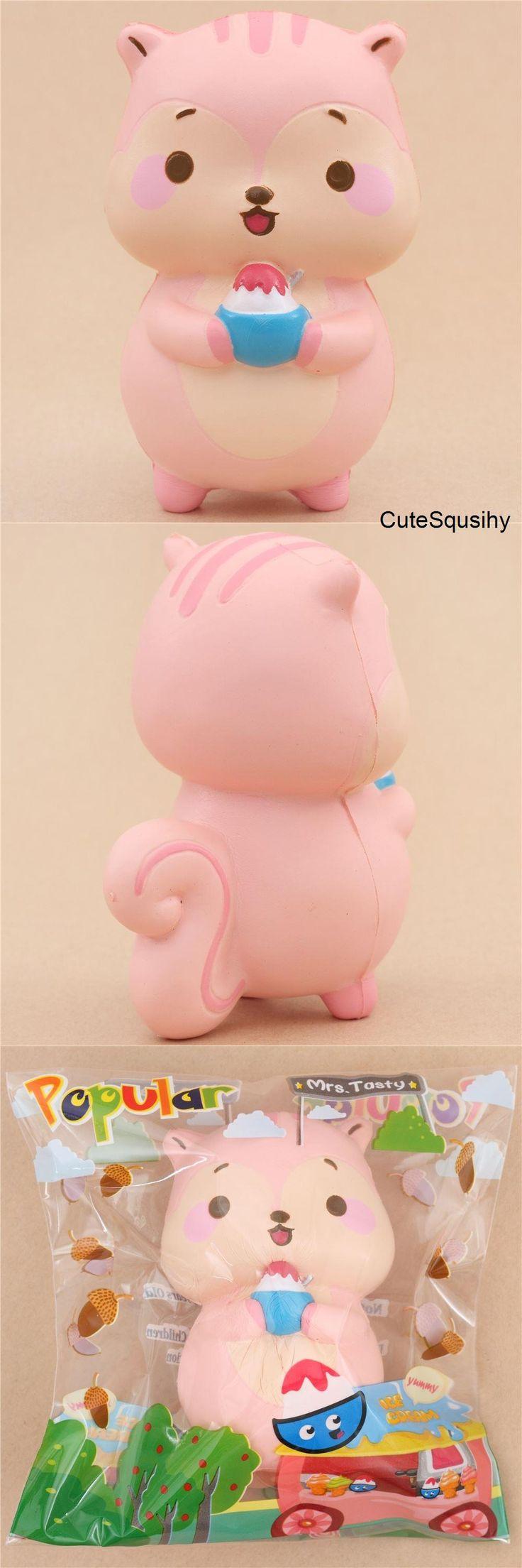 Popularboxes_hk Squishy kawaii parfumé en forme d'écureuil rose