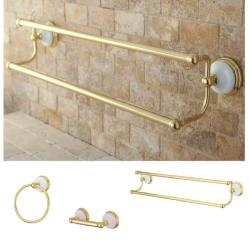 Polished Brass 3 Piece Bathroom Accessory Set (Polished Brass)
