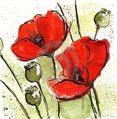 Floral Design with poppies by Finetti, via Dreamstime