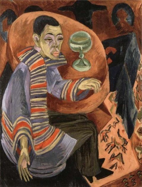 The Drinker (1914) / Ernst Ludwig Kirchner /  독일 야수파/표현주의 화가였던 키르히너의 자화상