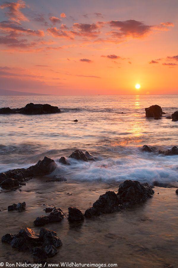 Sunset At Mokapu Beach, Maui.