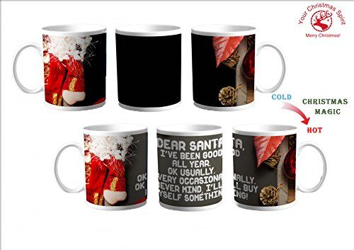 Merry Christmas Gifts Santa Claus Funny Heat Sensitive Coffee Mug for Women Men Kids Girls Boys *** Check out the image by visiting the link.-It is an affiliate link to Amazon. #ChristmasGift