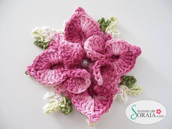 crochet flower ~ free tutorial
