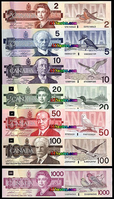 Old Canada banknotes - Canada paper money catalog and Canadian currency history