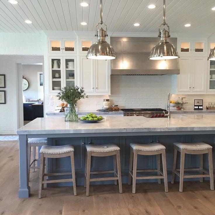 Kitchen Islands With Seating best 25+ blue kitchen island ideas on pinterest | painted island