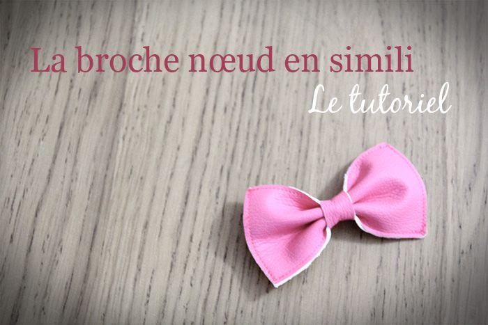 tutoriel broche noeud en simili / lalou and Co / 24/06/13