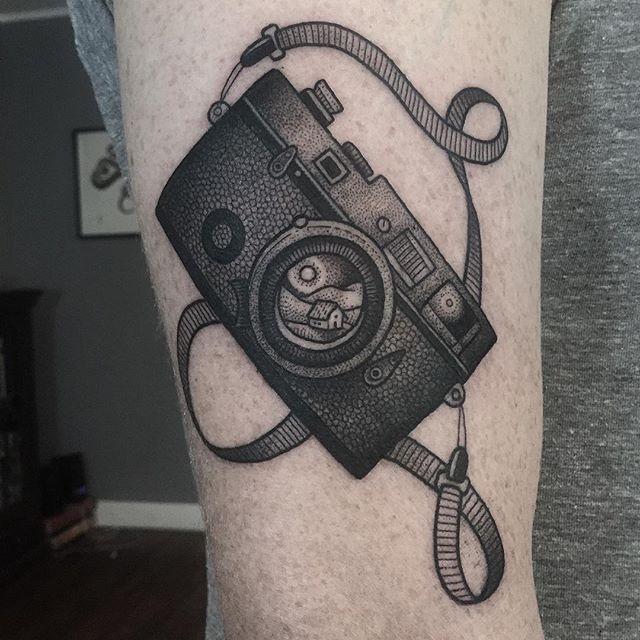 Leica film camera for Matt- thank you for flying in to get tattooed, even though you were very annoying ✌️