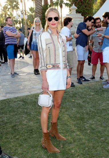 All the Coachella Street Style You Have to See: Kate Bosworth dressed the part in her Matisse boots and Etro jacket.