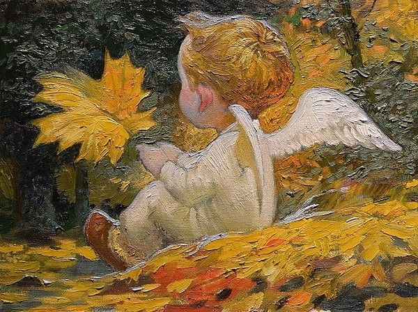 Golden Autumn Angel - Victor Nizovtsev