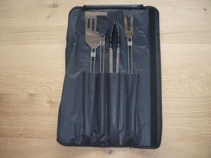 Grillwerkzeug Besteck Barbecueset Grillset Falttasche Grillzange Grillgabel    eBay