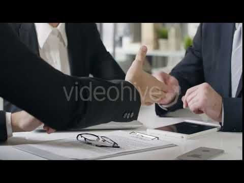Businessmen Making a Deal at Meeting (Stock Footage)