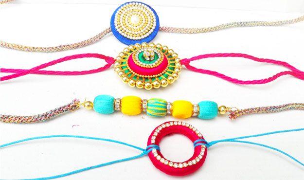 Handmade silk thread rakhi tutorial #DIY