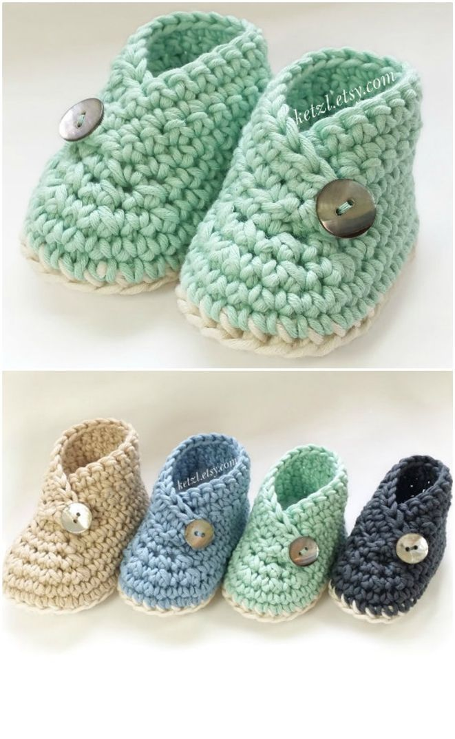 Häkeln Sie Kimono Baby Schuhe
