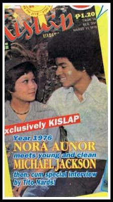pictures of Michael Jackson with Nora Aunor in Philippines 1976