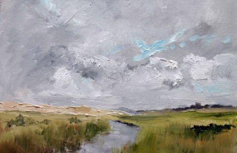 textured landscape painting