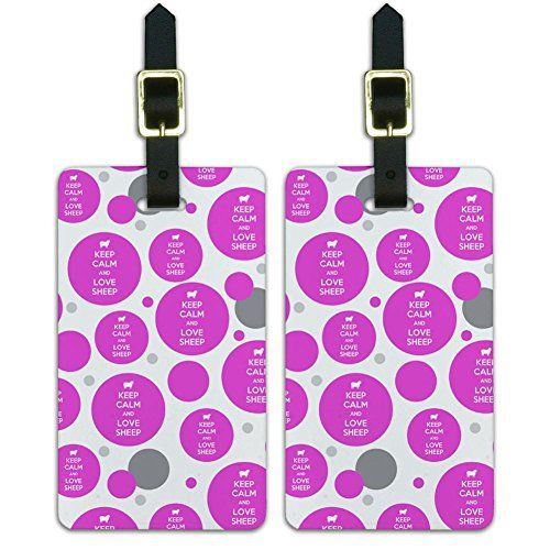 New Trending Luggage: Luggage Suitcase Carry-On ID Tags Set of 2 - Keep Calm and H-O - Love Sheep Lamb - Keep Calm and. Luggage Suitcase Carry-On ID Tags Set of 2 – Keep Calm and H-O – Love Sheep Lamb – Keep Calm and   Special Offer: $8.99      277 Reviews This set of two awesome, printed luggage tags will set your luggage apart in style. The tags are made of durable plastic with a card for...