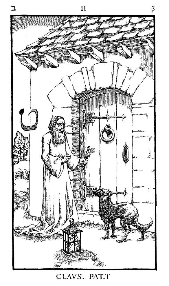"Woodcut Engraving from The Ninth Gate ""Open that which is closed"" by Aristide Torchia"