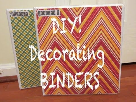 DIY! Decorating Binders using scrapbook paper, plain labels, and letter stickers ❖ Back to School 2013