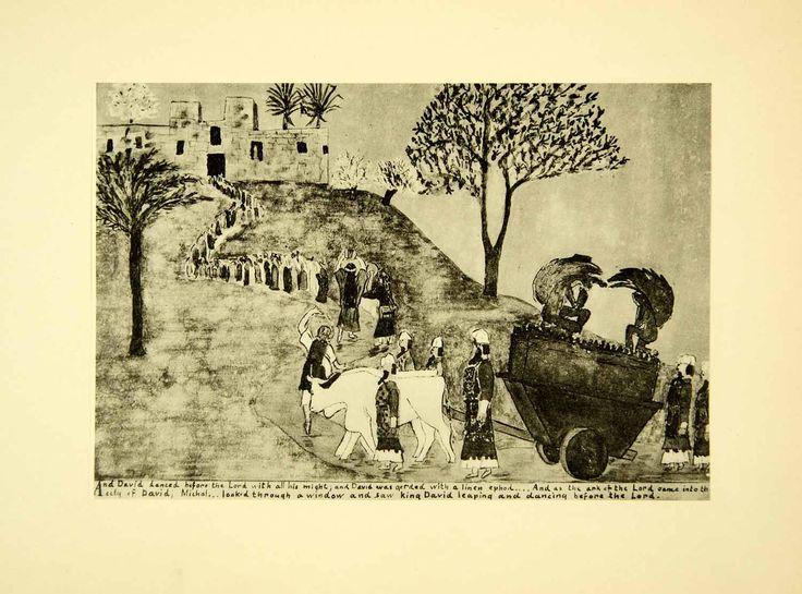 1931 Collotype David Ark Covenant Zion Jerusalem Biblical Joan Manning XAAA9