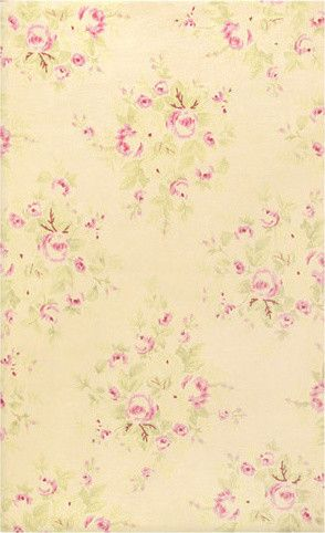 Shabby Chic French Rose Bouquet Cotton Flannel Rug traditional kids rugs
