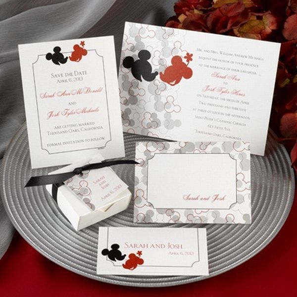 Disney Wedding Invitation: 17 Best Images About Mickey & Minnie Wedding On Pinterest