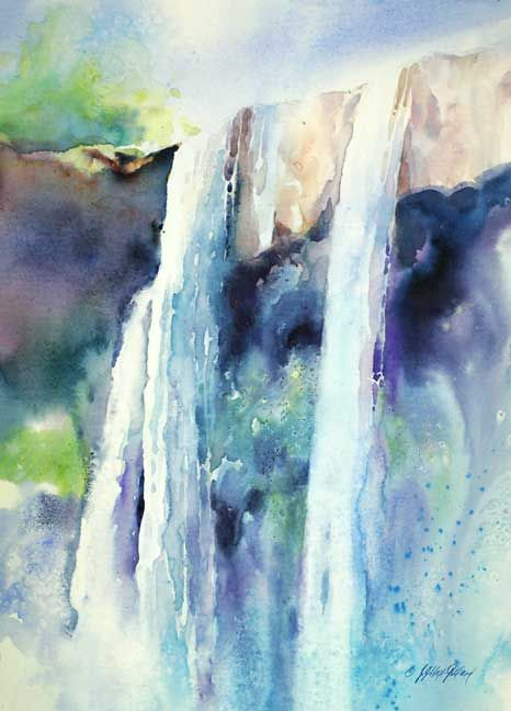 Waterfall tutorial, Julie Gilbert Pollard