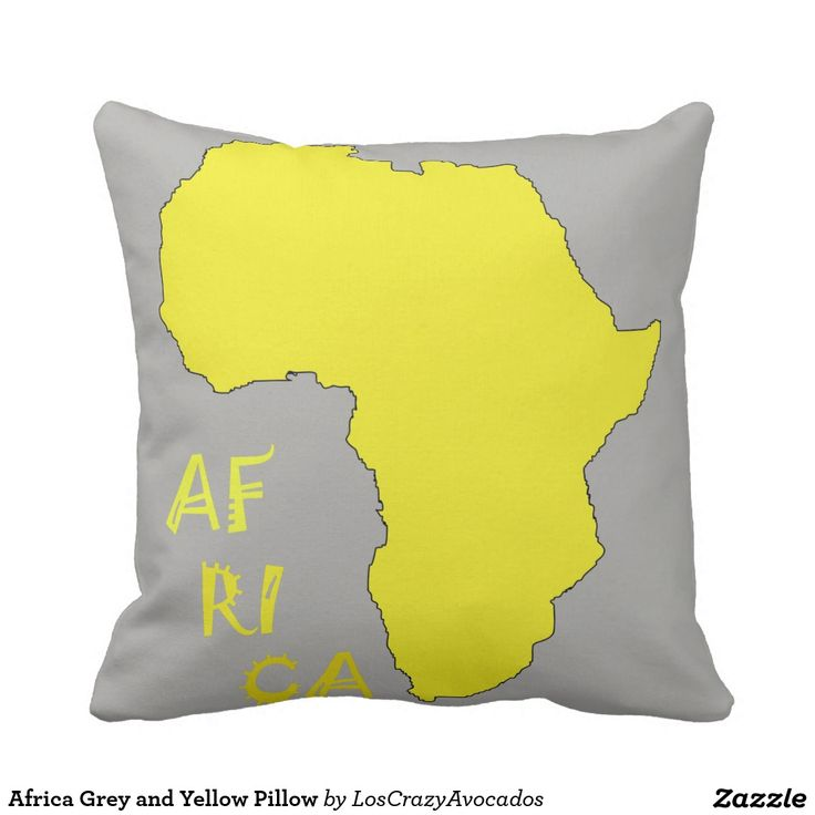 Africa Grey and Yellow Pillow