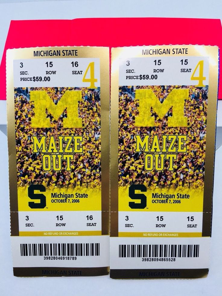 College Football Tickets Michigan Wolverines 2006 10/7 Michigan State University  | eBay