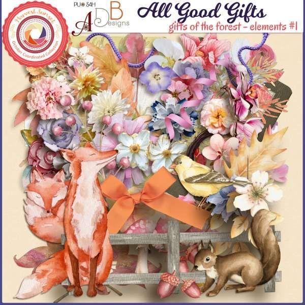 Digital Art :: Element Packs :: All Good Gifts Forest Elements