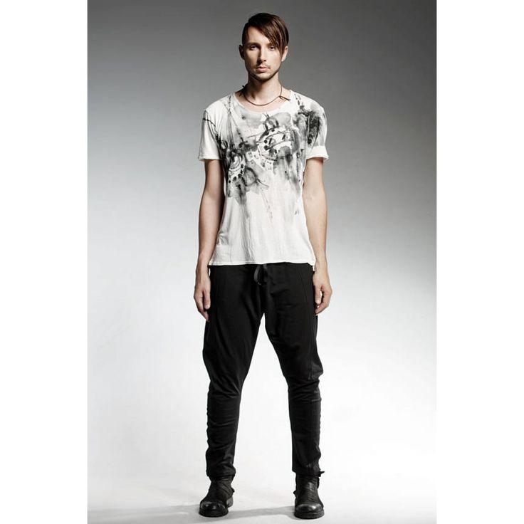 FUTURIST T-Shirt, fait à la main, mode extravagant, T-Shirt pour hommes