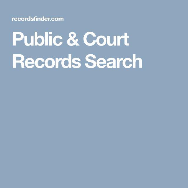 Public & Court Records Search