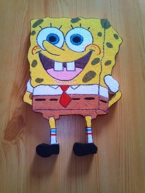 Hungarocell spongyabob. Gyerekszoba dekoráció. Styrofoam Spongebob. #Szekesfehervar