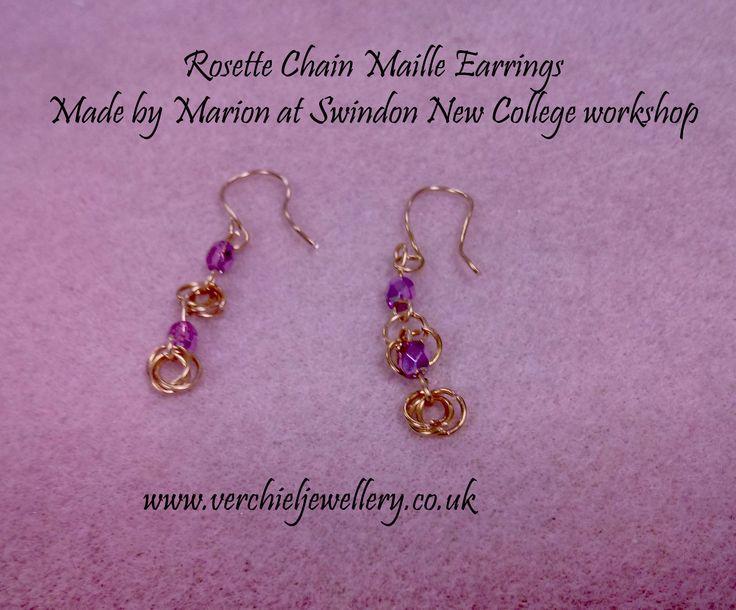 Made by Marion during Swindon New College workshop.  www.verchieljewellery.co.uk