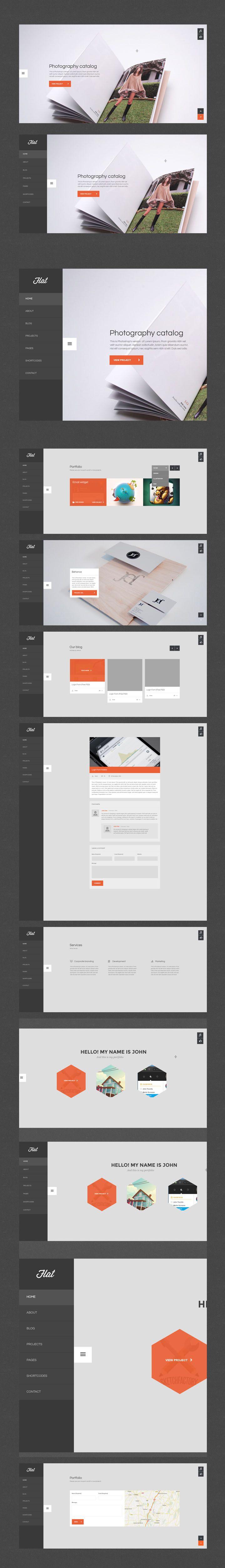 Flat ui design gui web design responsive