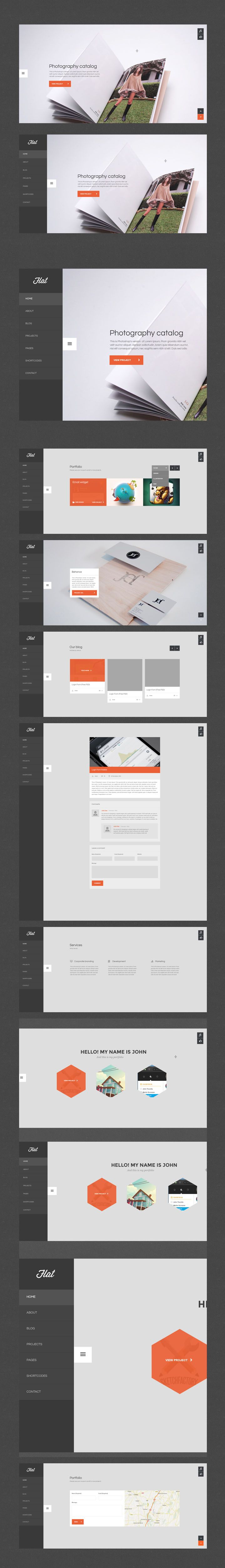 Flat UI Webdesign | #webdesign #flatui