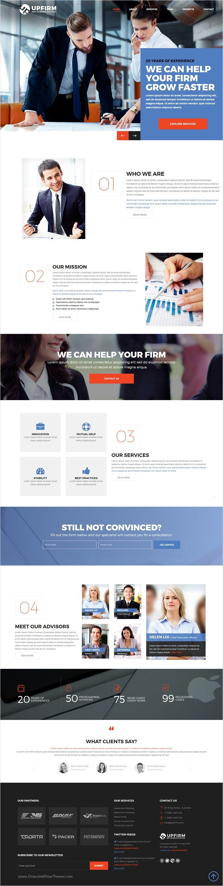 Upfirm is beautifully design premium #Bootstrap HTML5 theme for #advisor, attorney, business or #corporate consulting agencies website Download now➩ https://themeforest.net/item/upfirm-multi-purpose-html5-website-template/18261528?ref=Datasata