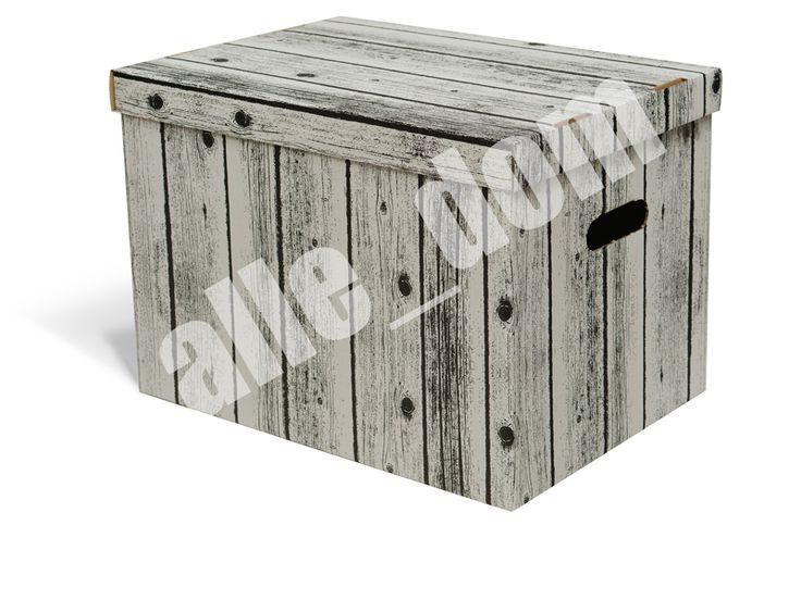 Pudełko kartornowe - biało - czarny