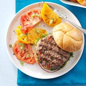 Spicy Cajun Salsa Burgers: 2013 Recipes, Dinners Recipes, Meat Recipes, Burger Recipes, Burgers Recipes