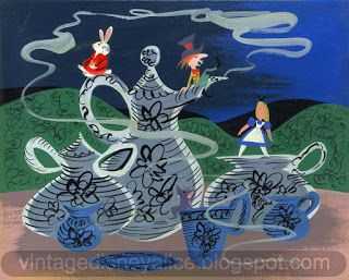 Vintage Disney Alice in Wonderland: Mary Blair Alice at the Tea Party