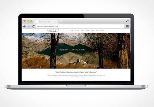Website Design & Development for Oriental Trek & Tour Ladakh