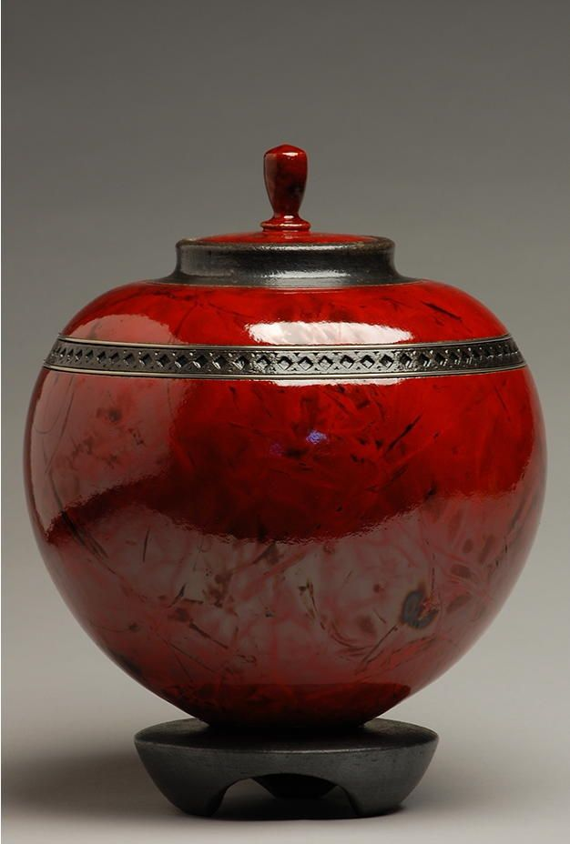 Raku Copper red