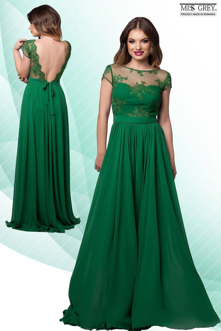 Get noticed wearing a delicate dress. The gorgeous color combined with the naked back will surely keep all eyes on you