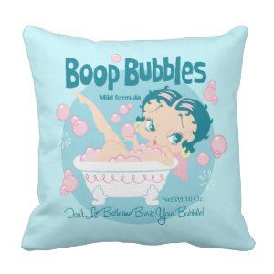 Booparama Betty Boop Bubbles Pillows Get Personal with #BettyBoop  - Personalized clothing, cards and gifts!! #streetstyle http://leahg.me/get-personal-with-betty-boop-personalized-clothing-cards-and-gifts/
