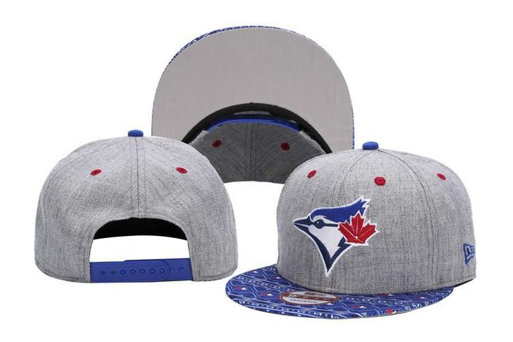 Mens Toronto Blue Jays New Era 9Fifty 2016 MLB Denim Kaleido vize Print Visor Snapback Cap - Heather Grey / Assorted
