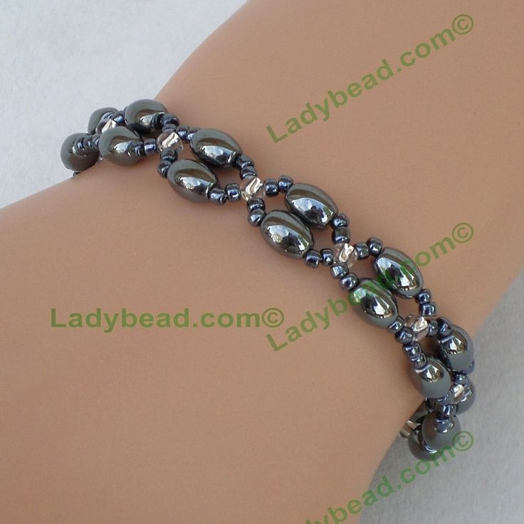 Hematite Bracelet Made America Gift Jewelry #B17