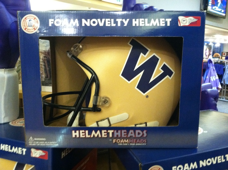 Helmet heads by foamheads at UW Bookstore
