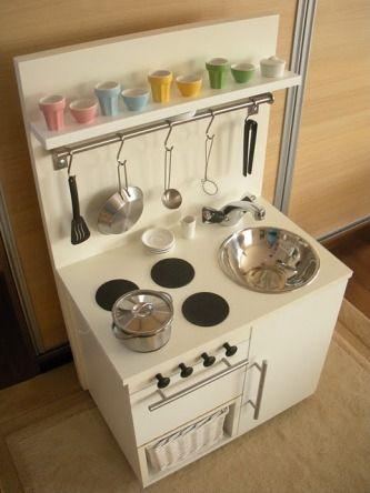 Play Kitchen DIY from Ikea furniture